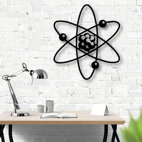 Özel Tasarım Atom Metal Tablo