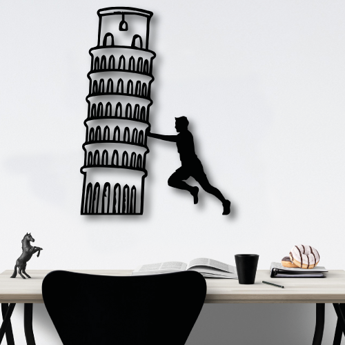Özel Tasarım Pisa Tower Metal Tablo