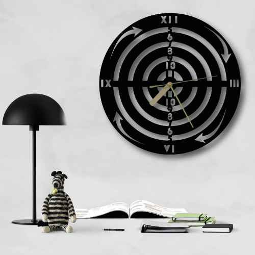 Dart Özel Tasarım Metal Duvar Saati