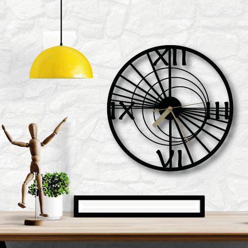 Özel Tasarım Rome Metal Duvar Saati