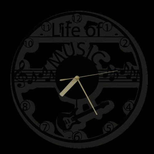 Özel Tasarım Life of Music Dekoratif Metal Duvar Saati