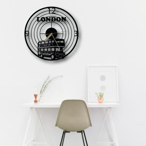 Özel Tasarım London Dekoratif Metal Duvar Saati