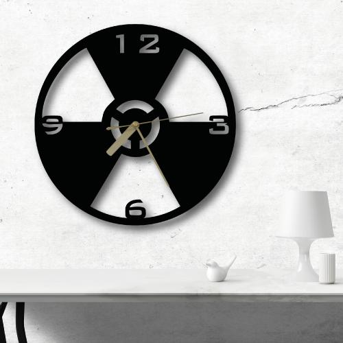 Danger Özel Tasarım Metal Duvar Saati