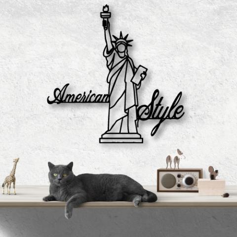 American Style Özel Tasarım Metal Tablo