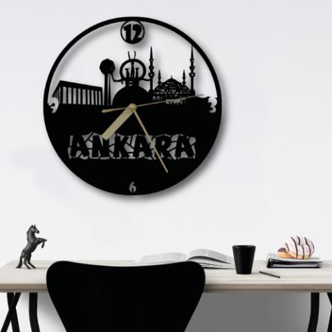 Ankara Özel Tasarım Metal Duvar Saati