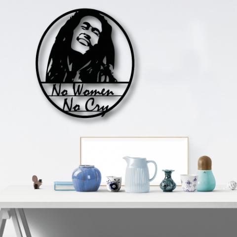 Bob Marley Özel Tasarım Metal Tablo