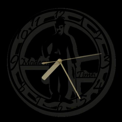 Özel Tasarım Charlie Chaplin Dekoratif Metal Duvar Saati
