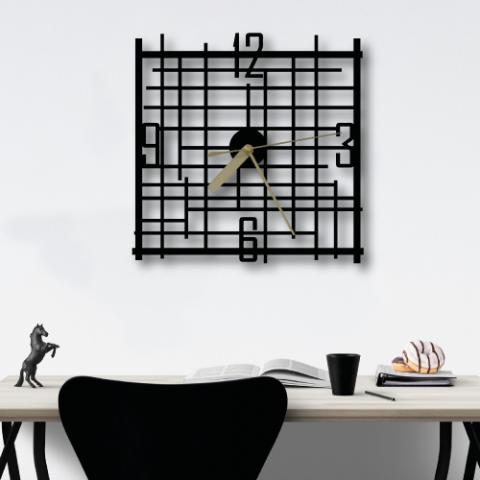 Özel Tasarım Line Metal Duvar Saati
