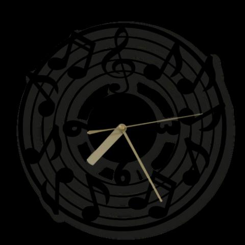 Özel Tasarım Music Time Dekoratif Metal Duvar Saati