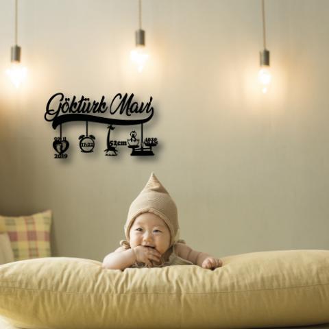 Yeni Doğan Hediyelik Bebek Kimlik Metal